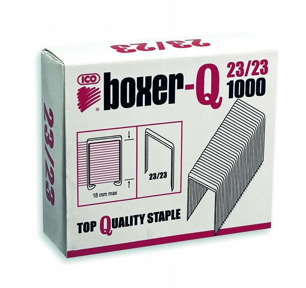 Zszywki ICO Boxer 23/23, 1000szt. do 180 kartek