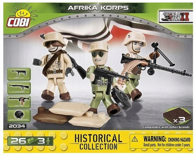 Klocki 26 elementów 3 figurki Africa Korps