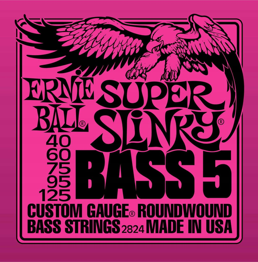 Struny do Basu Ernie Ball (40-125) Super Slinky