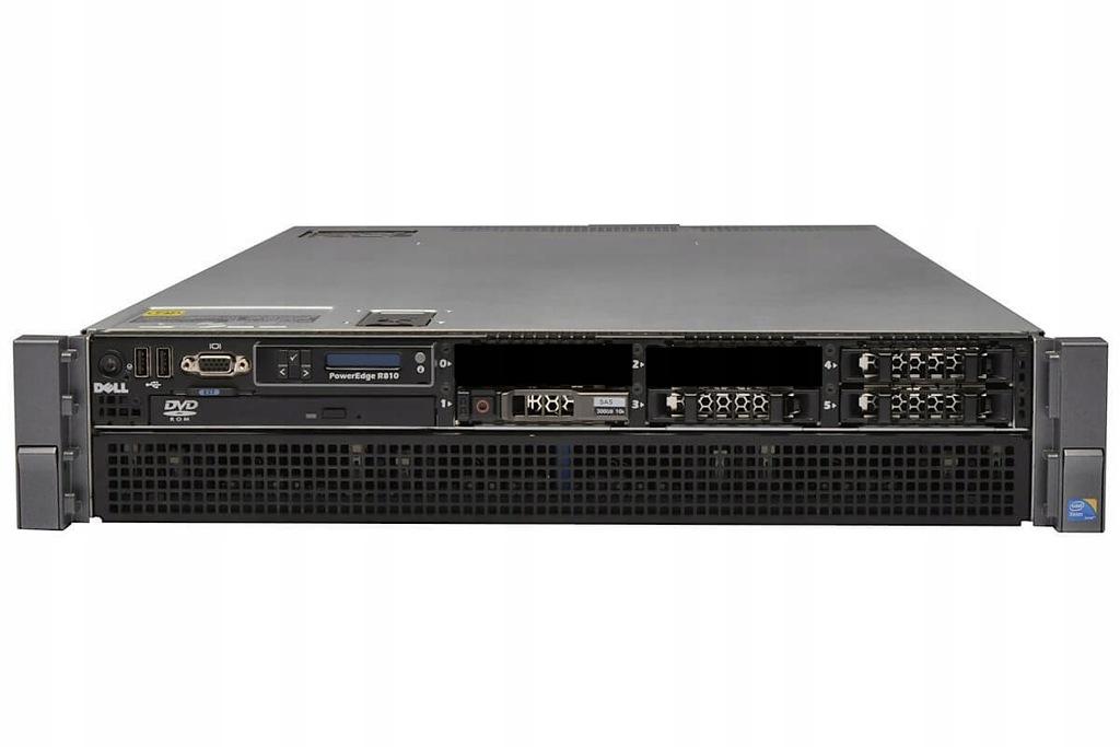 SERWER DELL R810 2X XEON X7560 128GB 70GB SAS RW
