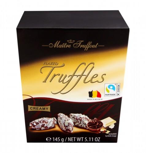 Czekoladki truflowe z płatkami białej czekolady 14