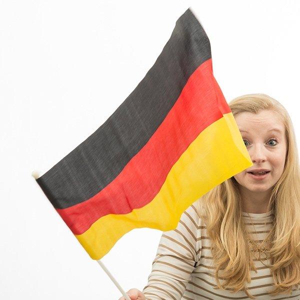 Flaga Niemiec z Masztem 46 x 30 cm
