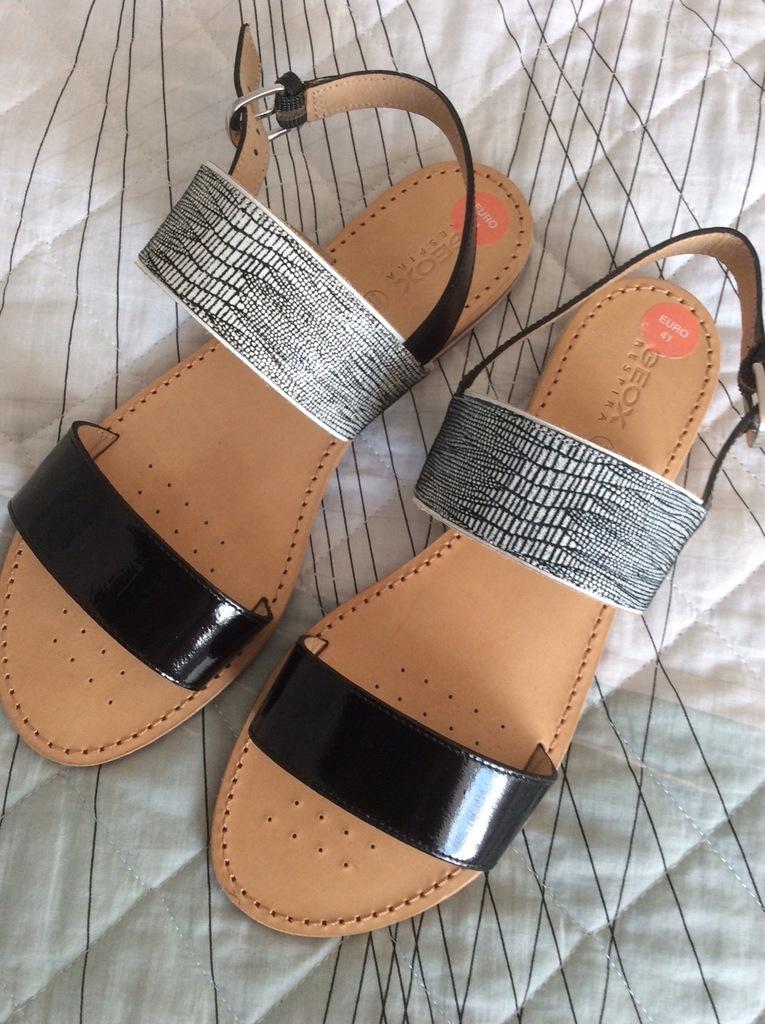 Sandały GEOX RESPIRA skóra naturalna