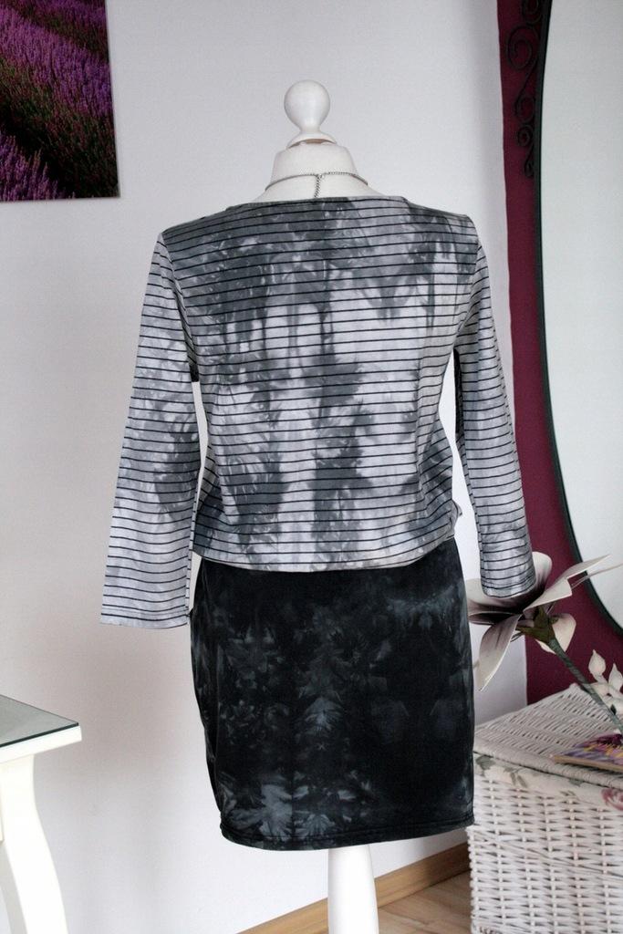 ALIZEE Marmurkowa sukienka przedłużony stan 40 42