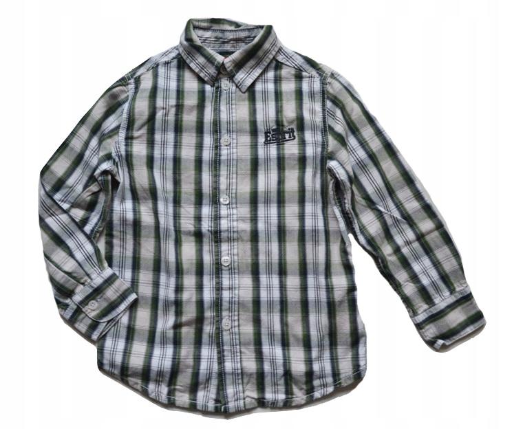 Koszula w kratkę Esprit zielona 104 110 chłopięca