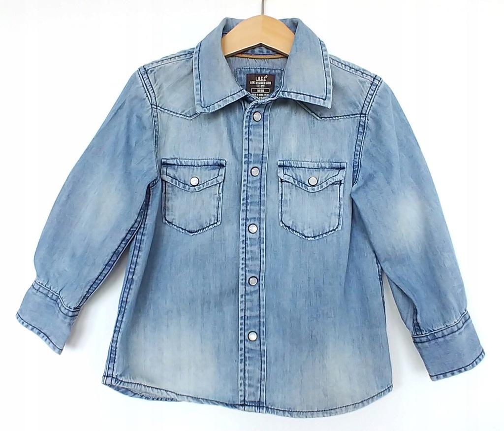 koszula chłopięca jeansowa H&M RESERVED 98