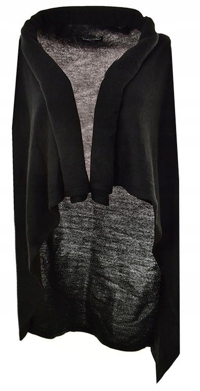 aAF6580 czarna modna sweterkowa kamizelka 48/50