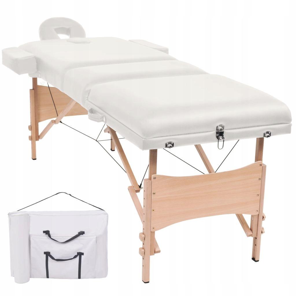 Składany stół do masażu, trzyczęściowy, grubość 10