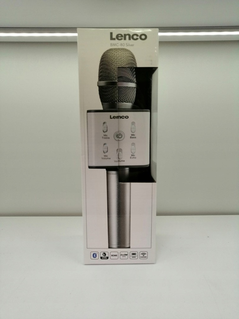 Mikrofon Lenco BMC-080 szary - 8817623798 - oficjalne archiwum Allegro