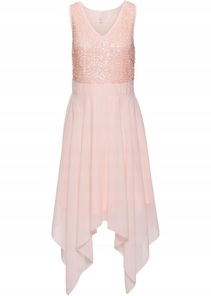A83 BPC Sukienka wieczorowa z cekinami r.46