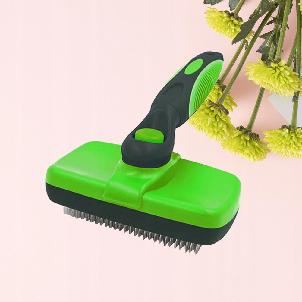 19x6.2cm Pet Massage Brush Cat Hair Grooming Scrub