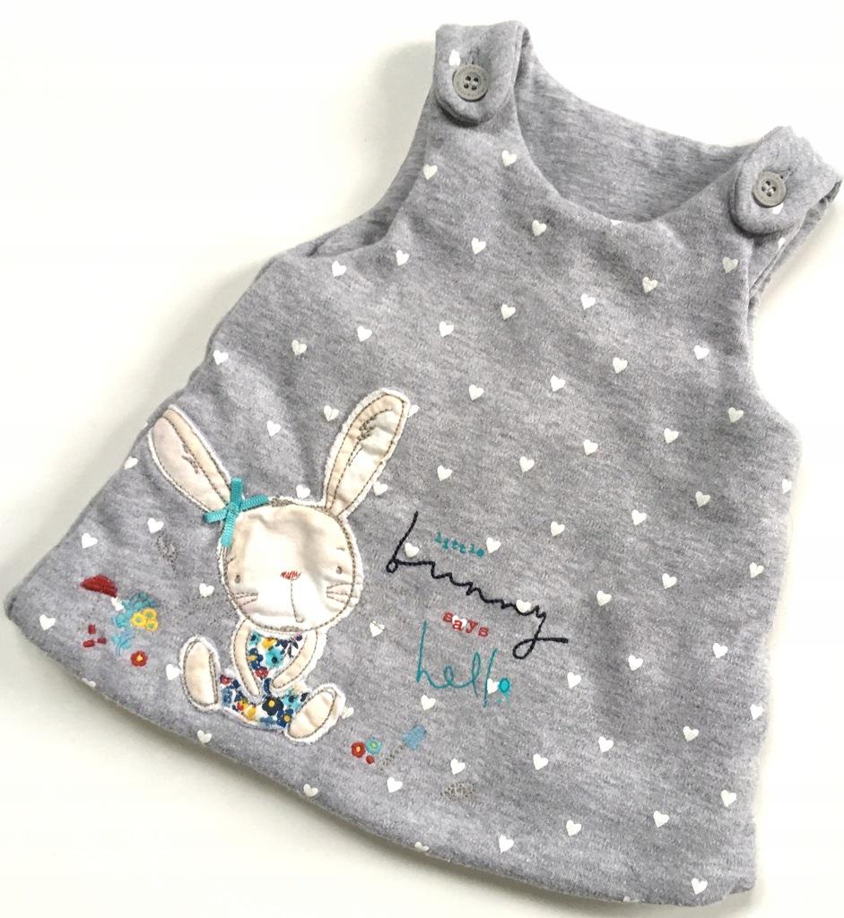 MOTHERCARE noworodek sukienka królik 50 3,4kg