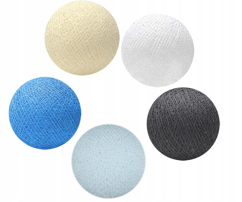 Cotton Balls Kule Lampki Girlanda 50 Kul Led 8055664635 Oficjalne Archiwum Allegro