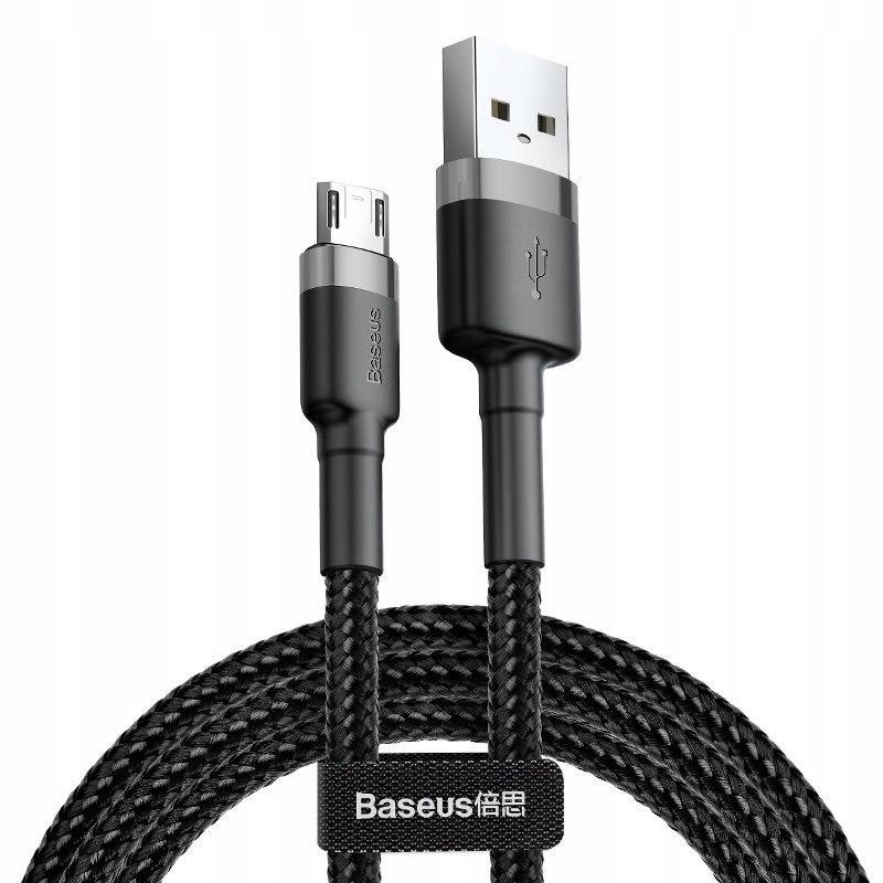 Kabel Micro USB Baseus Cafule 2.4A 1m (szaro-czarn