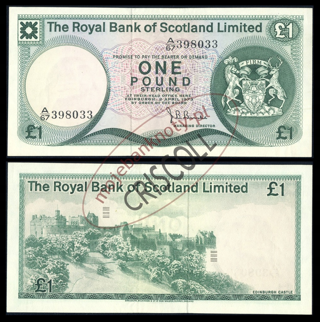 Szkocja 1 funt 1973r. P-336 XF+ ( 2+ )
