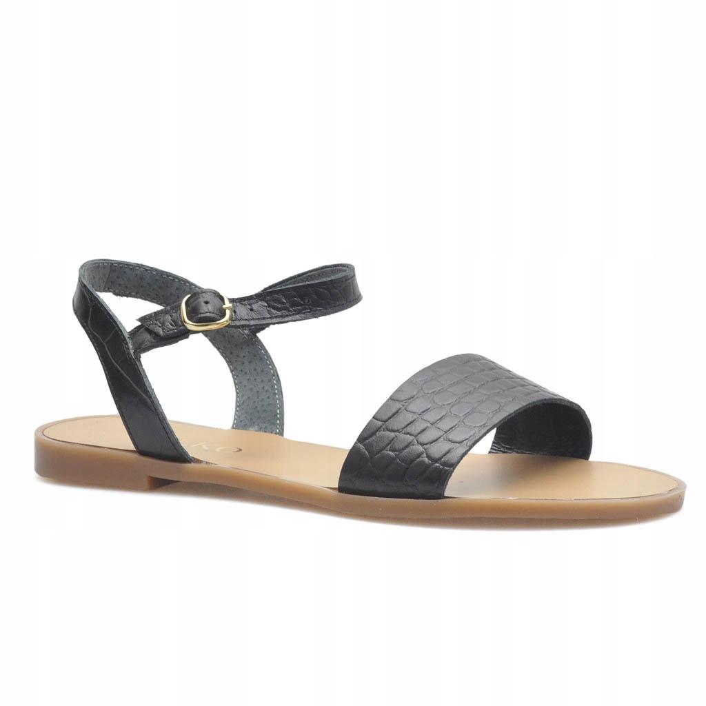 Sandały Ryłko 0AFN1_Q_3IM Czarne lico 35