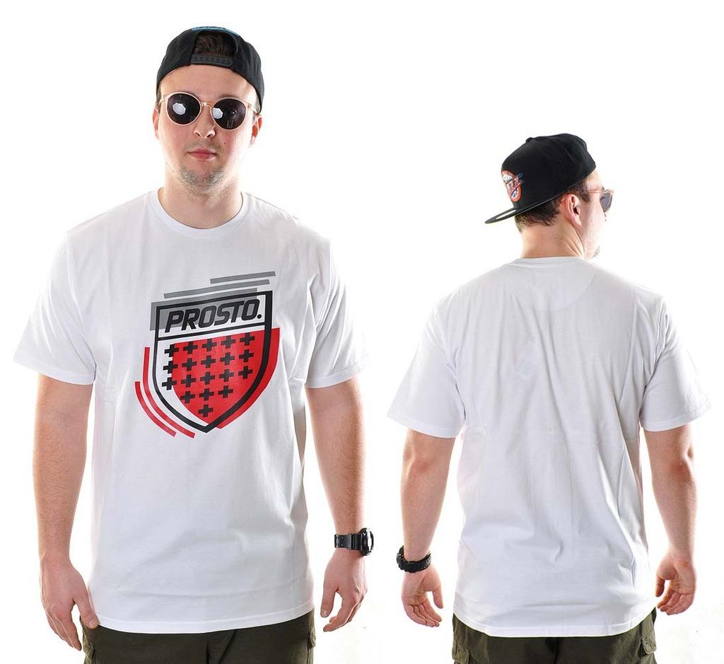 -30% Koszulka XL Prosto Klasyk BLAZE biała