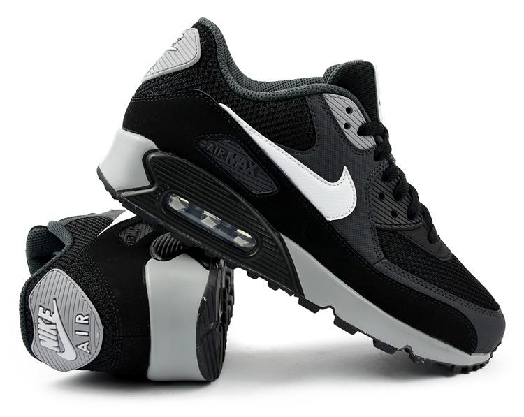 Prosty i elegancki Buty Buty Nike Air Max 90 Czarne Oreo