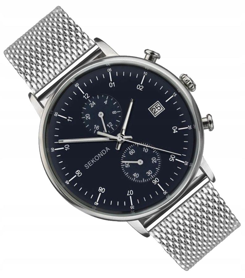 KLASYK Męski zegarek z bransoletą Sekonda 1195