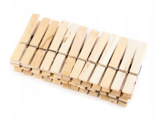 Spinacze Klamerki do Bielizny 24szt drewno al43