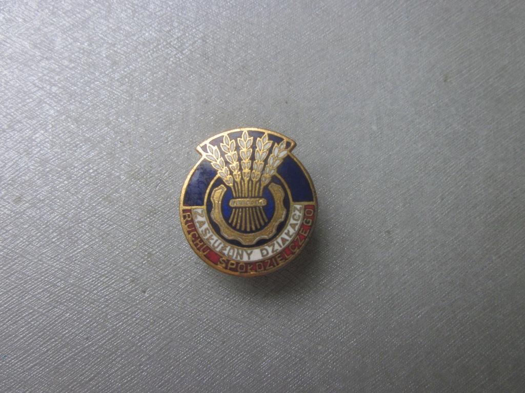 Odznaka Zasłużony Działacz Ruchu Spółdzielczego 1