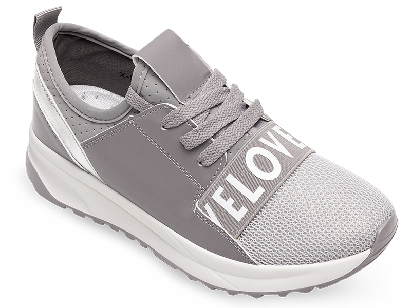 Buty sportowe damskie Ideal Shoes X 9703 Szare 38