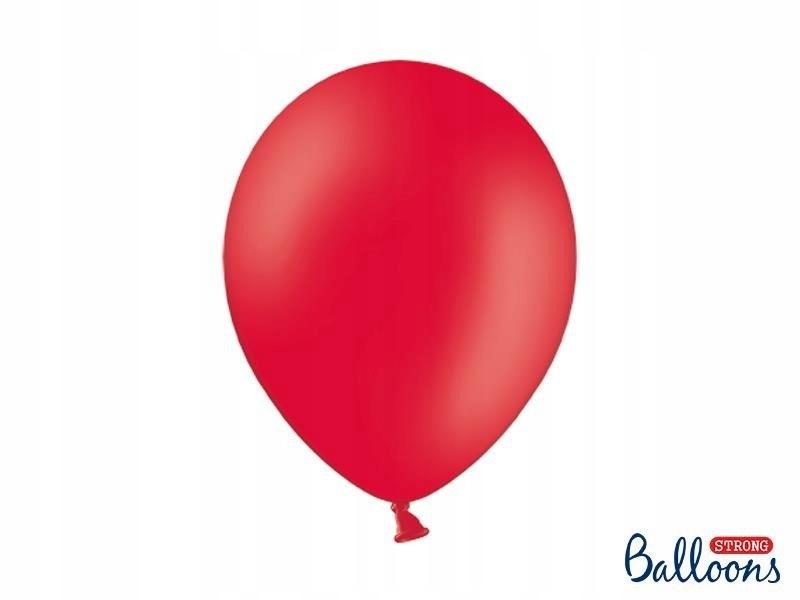 Balony Strong 30cm, Pastel Poppy Red, 50 szt