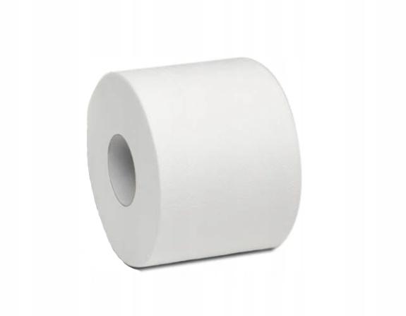 Papier toaletowy 2W, biały, celuloza, 1 rolka