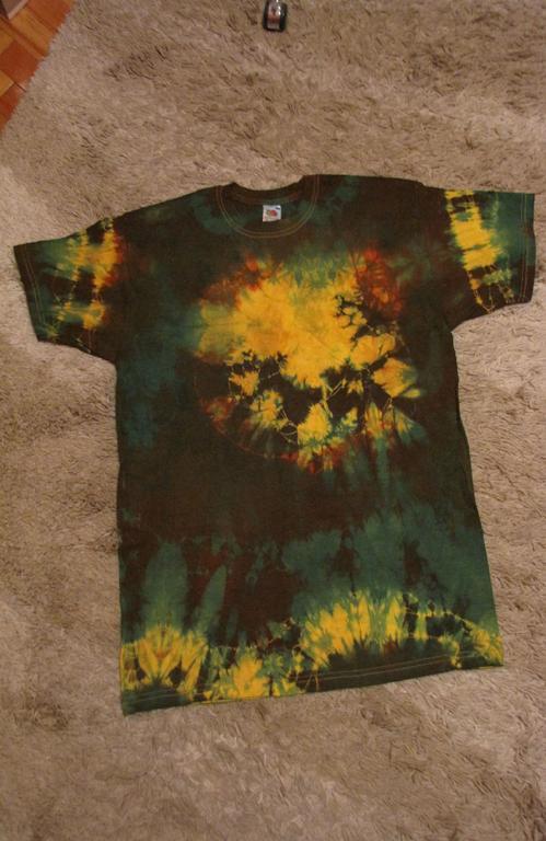 koszulka, t-shirt ręcznie barwiona, rasta XL WOŚP