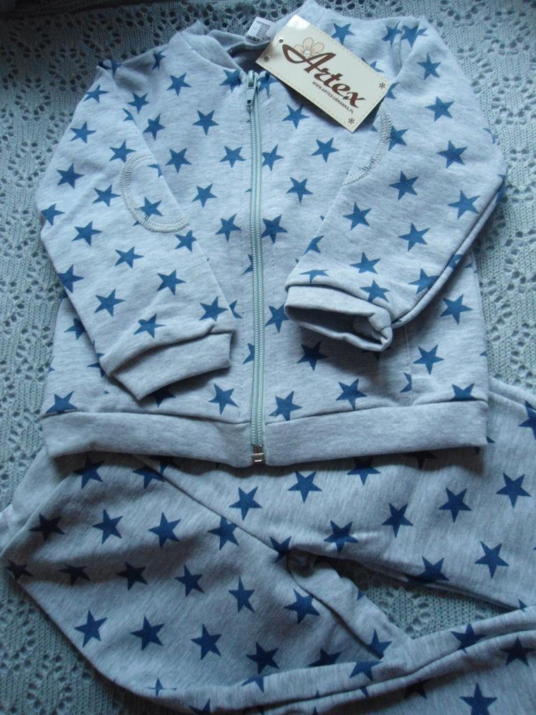 74 dres bluza rozpinana +spodnie ŚLICZNY ARTEX PL