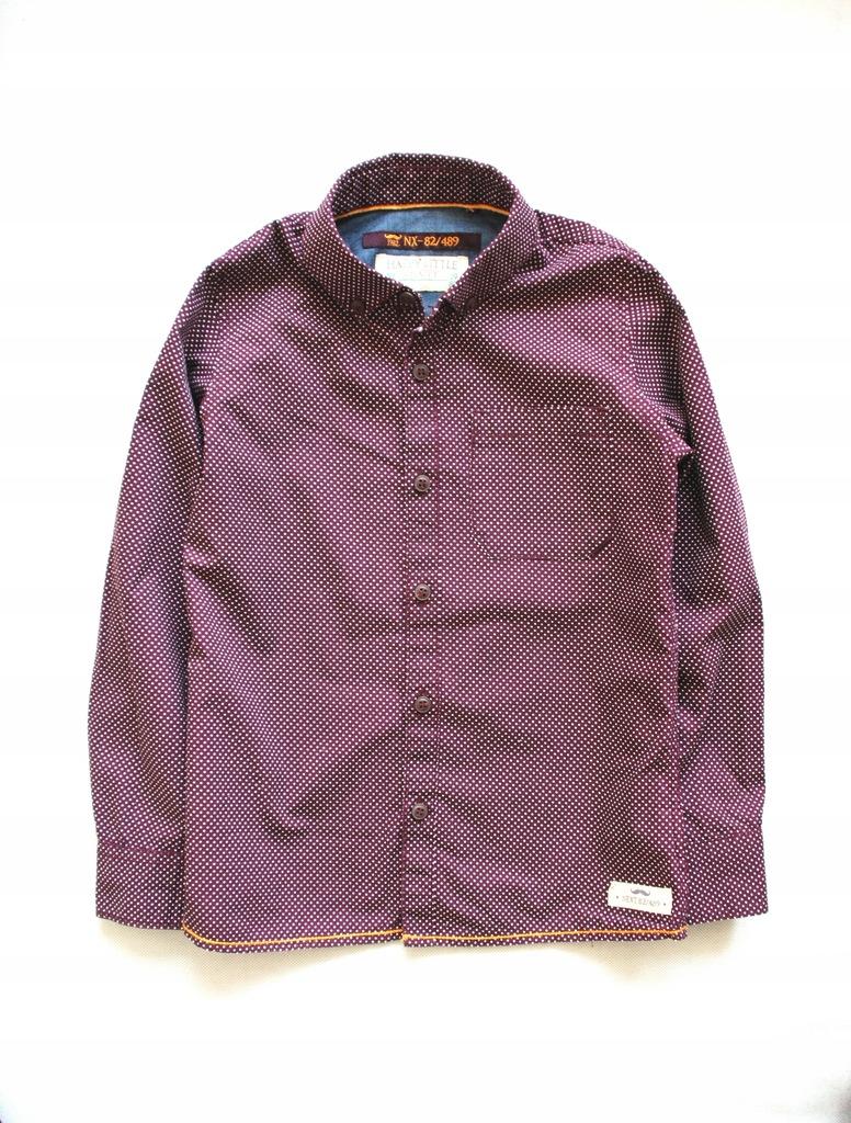 Next_stylowa koszula w kropki_bordowa__r116