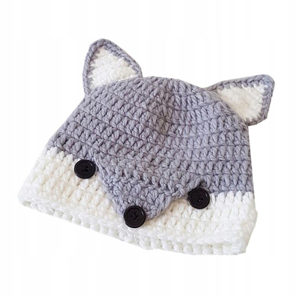 Dziecięca czapka zimowa z wełny Fox Ear