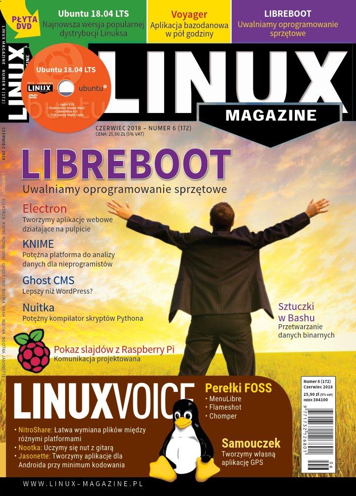LinuxMagazine 6/2018 Libreboot Ubuntu 18.04 ALM172