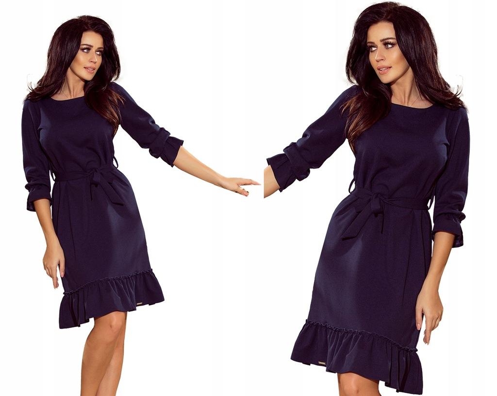 Wieczorowa Sukienka NA BAL Przed Kolano 193 3 L