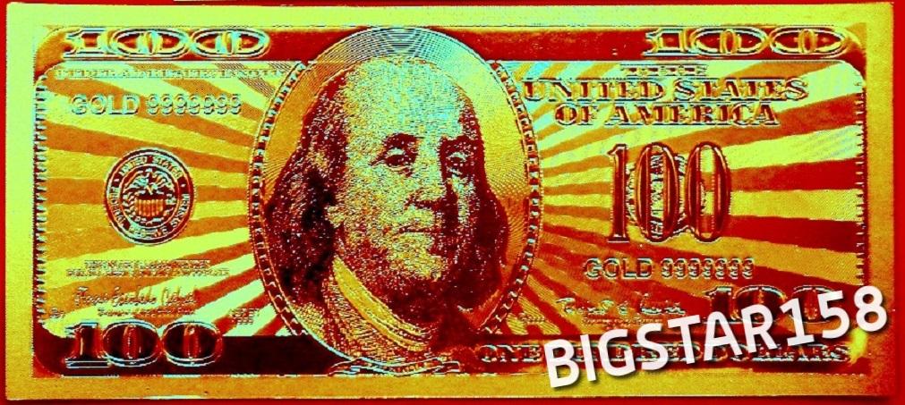 100 $ USA W CZYSTYM ZŁOCIE 24 KARAT! ZŁOTY!SUPER !