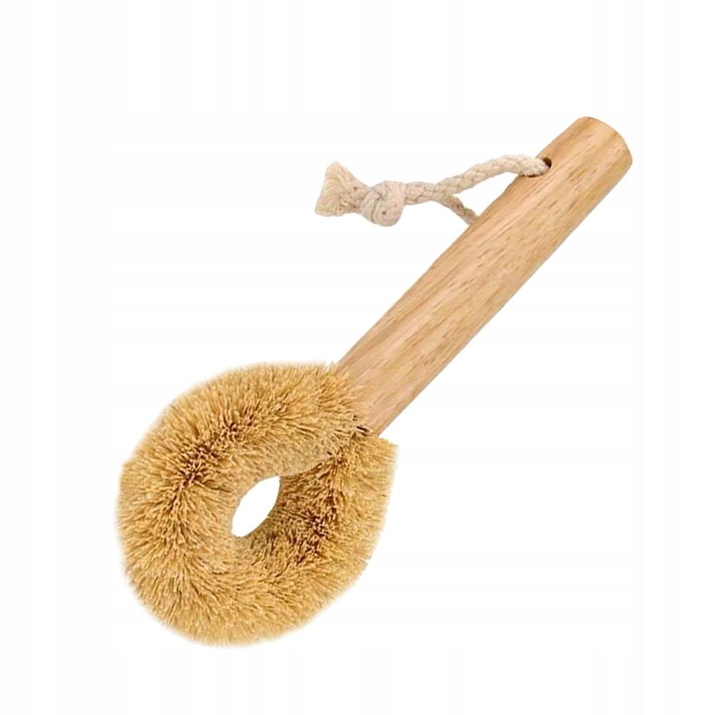 1 szt Drewniana rączka Miska Szczotka do czyszczen