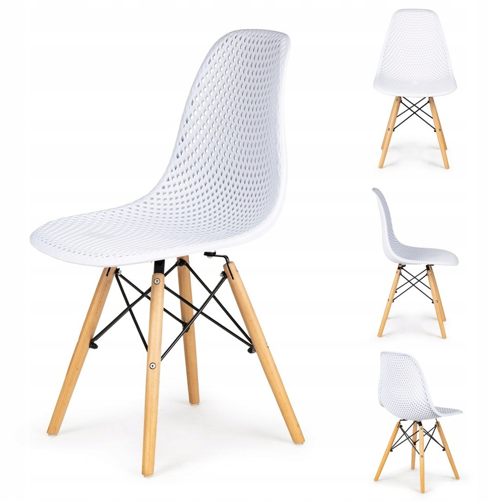 Komplet 4 krzeseł ażurowych ModernHome