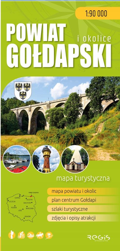 Powiat gołdapski i okolice - mapa turystyczna