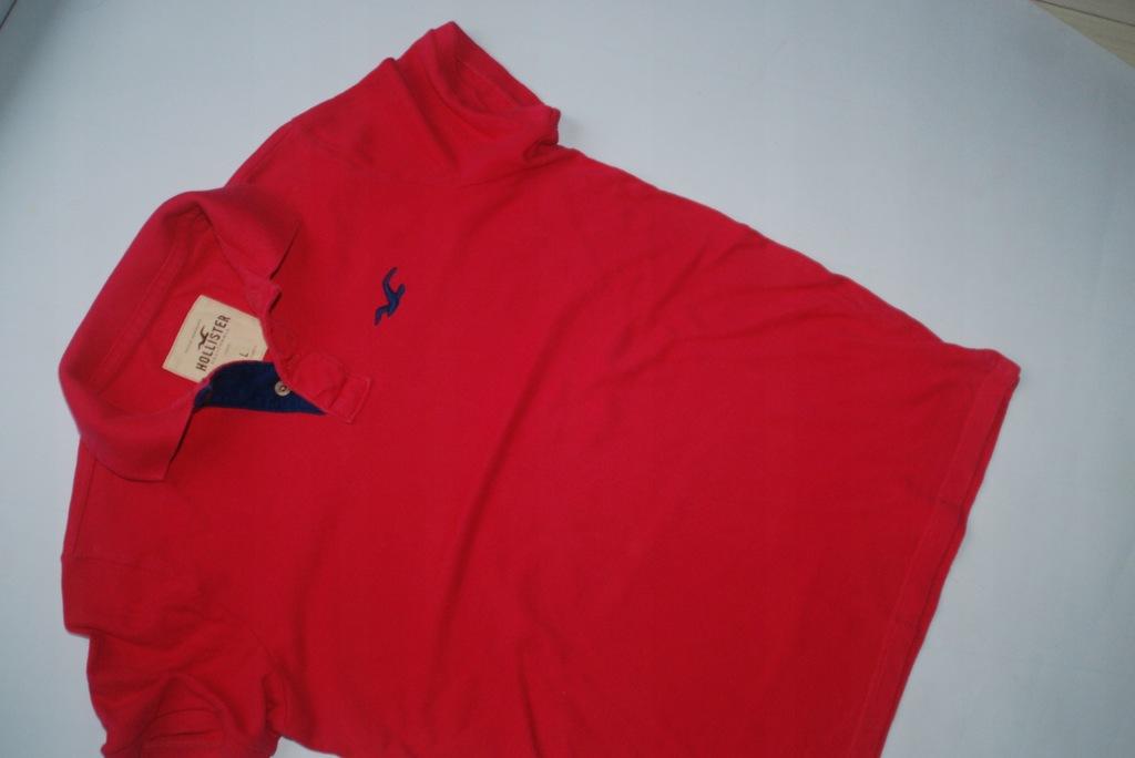 Hollister różowa koszulka polo L