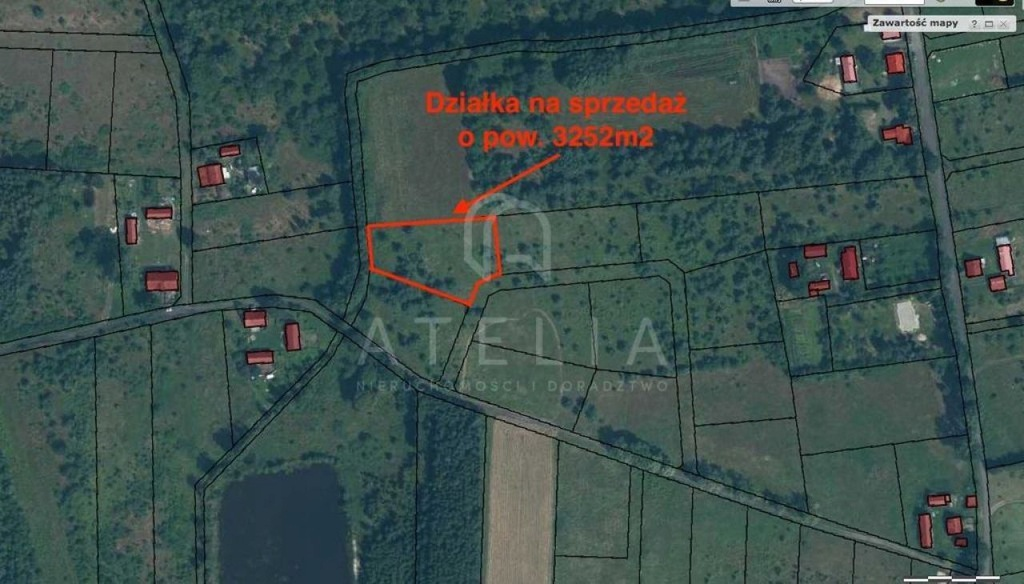 Działka Krępsko, goleniowski, 3252,00 m²