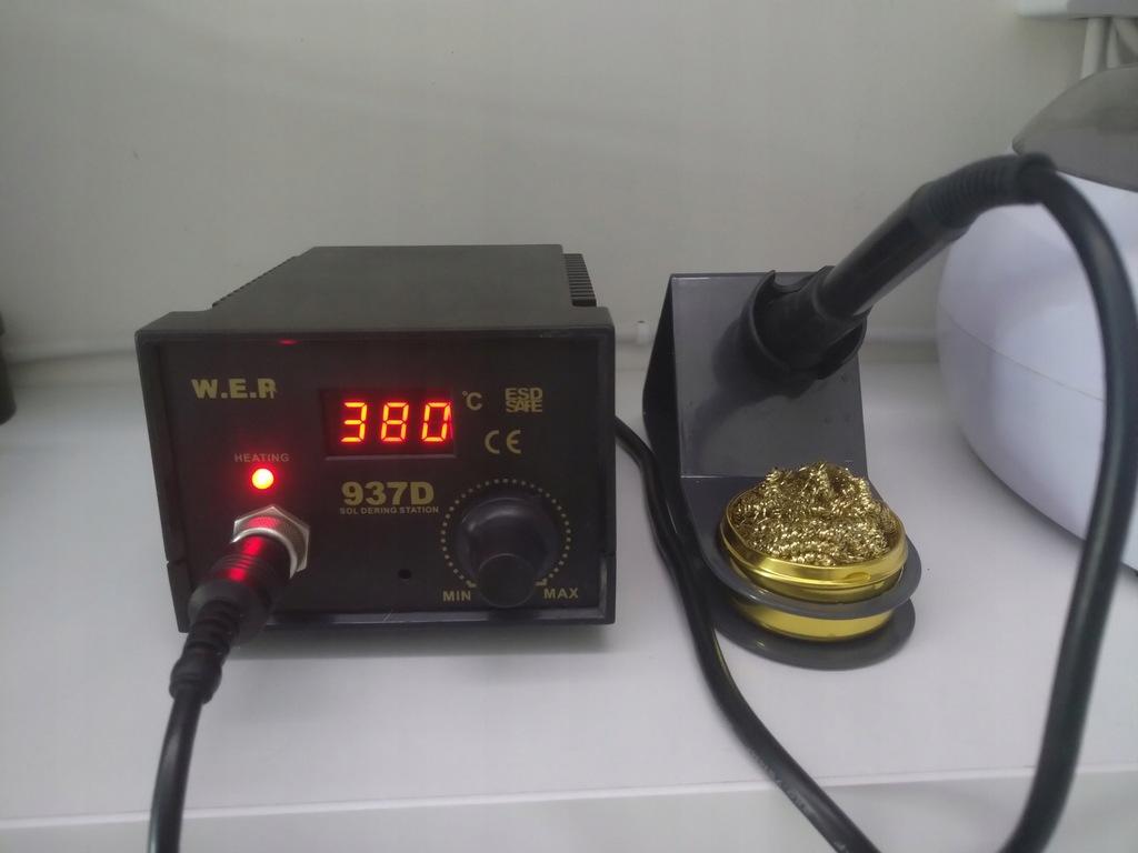 Stacja lutownicza 937D + termopęseta + akcesoria