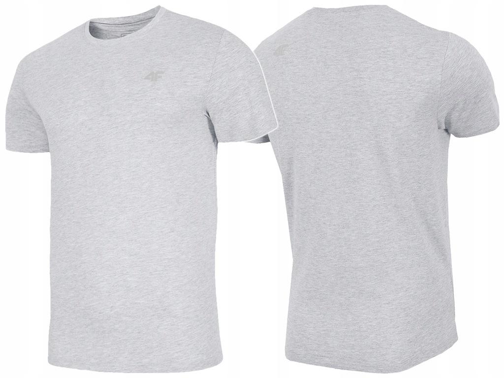 4F T-shirt KOSZULKA Męska L20 TSM003 J. Szara 3XL