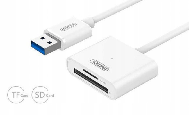 Unitek micro SD biały