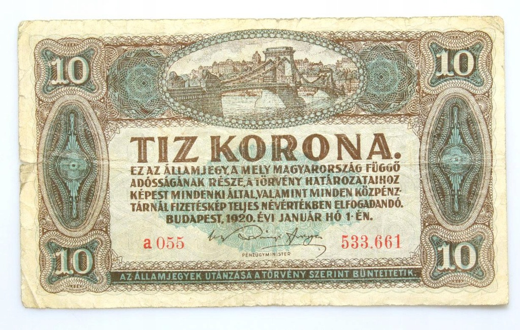 BANKNOT - Węgry - 10 Koron 1920