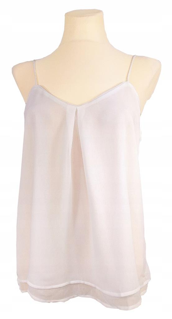 Top szyfonowy na ramiączkach Mango Biały M 38