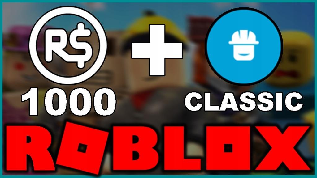 ROBUX ROBLOX 1000 + Classic Builders Club