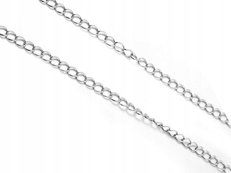 Łańcuszek stalowy 5x3.5 mm - 0.5 m