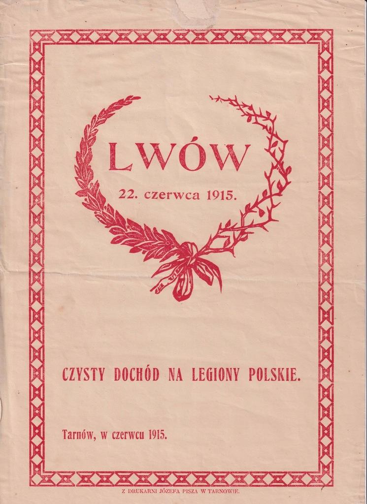 PLAKIETA OKIENNA LWÓW 1915 LEGIONY CEGIEŁKA