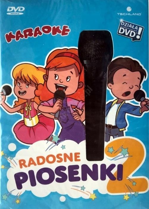 PŁYTA KARAOKE RADOSNE PRZEBOJE 2 + MIKROFON PC DVD