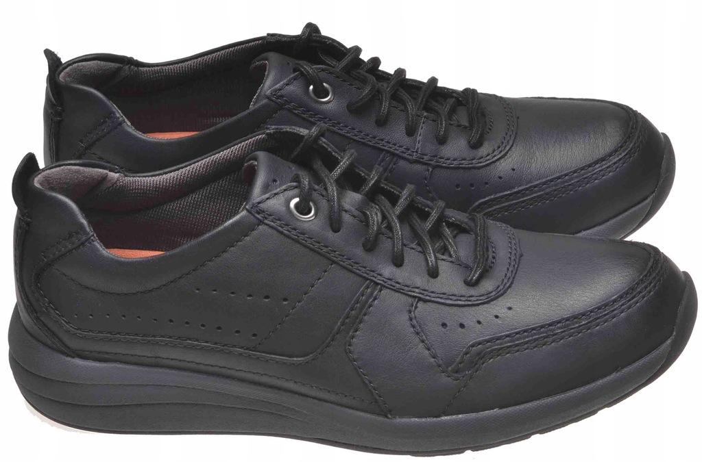 PÓŁBUTY CLARKS UN COAST FORM Black Leather 41